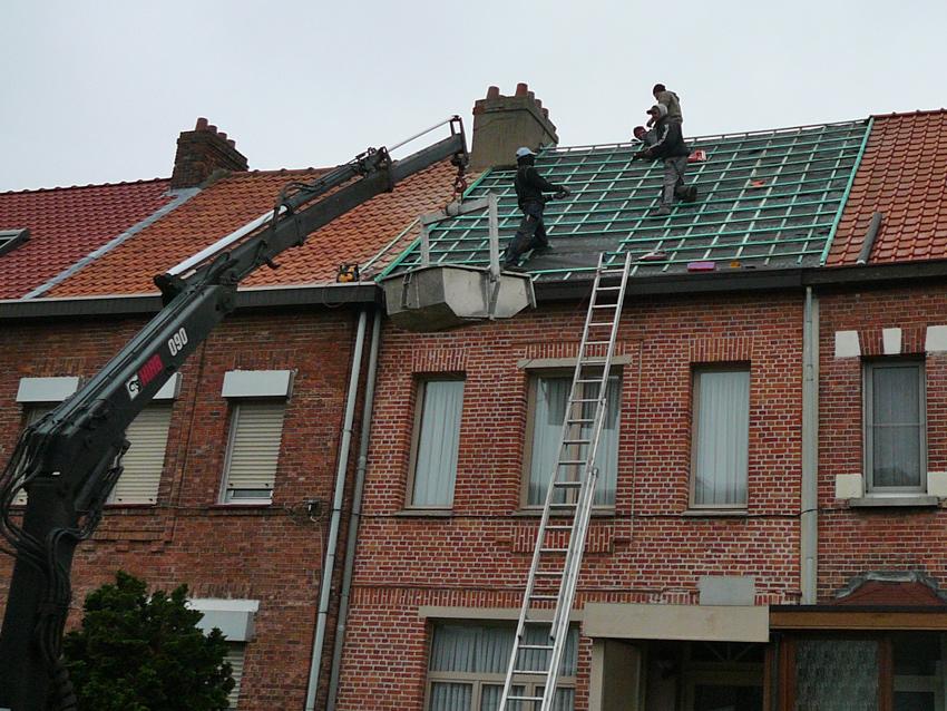 Onderdak plaatsen bij bestaand dak